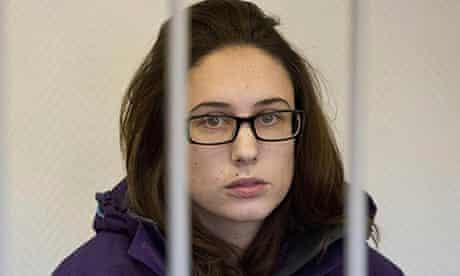 Arctic 30 activist Alexandra Harris from the UK