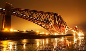 The Forth Bridge over the Firth of Forth