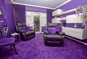 The house has been decorated entirely in purple.
