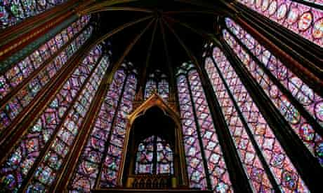 Stained Glass Windows at Sainte Chapelle Church in Paris