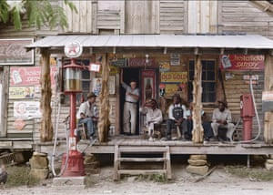 A lazy Sunday at a country store in North Carolina. The storeowner's brother stands in the doorway.