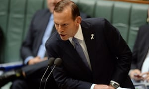Tony Abbott in question time.