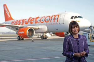 Carolyn McCall, chief executive officer of EasyJet Plc, speaks during a television interview at London Southend Airport, part of the Stobart Group Ltd, in Southend, U.K., on Monday, March 26, 2012.