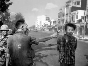 South Vietnamese National Police Chief Brig Gen. Nguyen Ngoc Loan executes a Viet Cong officer with a single pistol shot in the head in Saigon, Vietnam on Feb. 1, 1968.