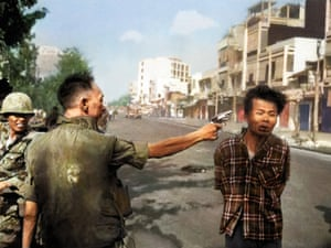 Carrying a pistol and wearing civilian clothes, the Vietcong guerrilla was captured near Quang Pagoda,