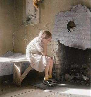 Dorothea Lange's documentation of the Great Depression. Colourised