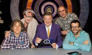QI host Stephen Fry and panellists