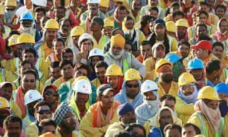 Labourers on a Building Site in Abu Dhabi