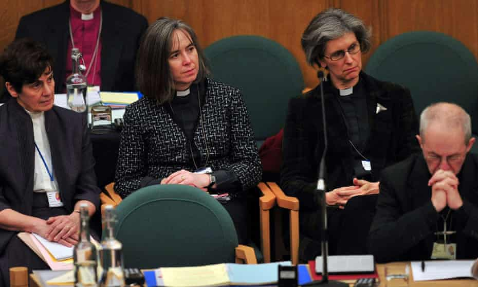 Female clergy on the second day of the Church of England's General Synod.