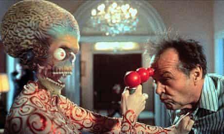 Jack Nicholson previously played a president in Tim Burton's Mars Attacks!