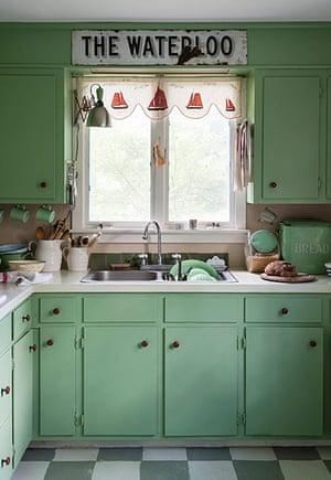 Homes - Remodelista: Green coloured kitchen