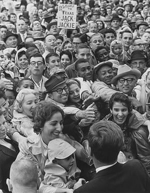 JFK Art: John F. Kennedy reaching out to the crowd in Fort Worth, November 22, 1963