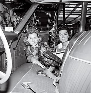 JFK Art: Mrs. J. Lee (Ruth Carter) Johnson III and Mrs. Ted (Lucille) Weiner