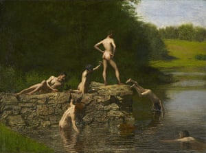 JFK Art: Swimming, 1885