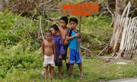 Typhoon Haiyan children