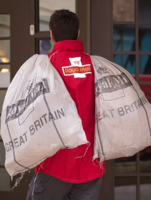 A Royal Mail postal worker.