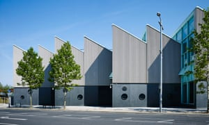 Arts factory … the saw-tooth profile of the arts specialism block.
