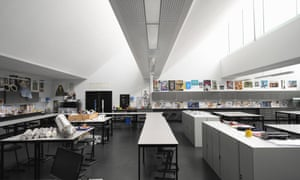 Lofty studios … inside the north-lit art rooms.