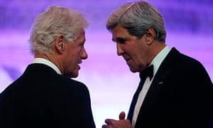 John Kerry and Bill Clinton