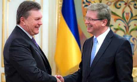 Viktor Yanukovich and Stefan Fule