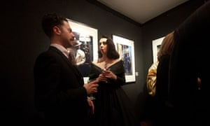 Guests at the I am Dandy exhibition opening