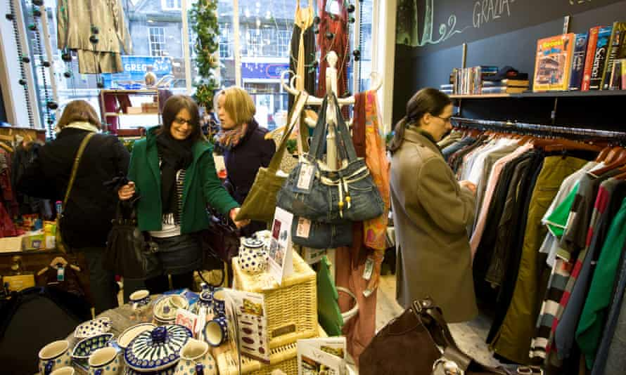Shoppers in Mary Portas's Living and Giving shop