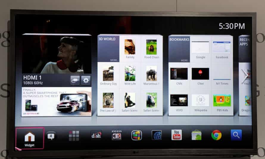 A G6 series LG smart TV with Google TV