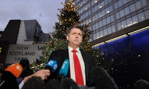 Detective Inspector Kevin Hyland briefs the press outside New Scotland Yard about the alleged domestic slavery case.