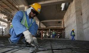 Migrant labourers, Doha, Qatar, 3/10/13
