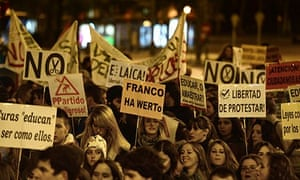 Education protest in Madrid