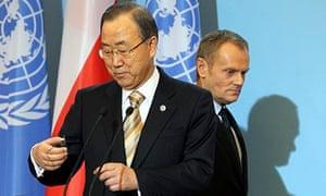 Ban Ki-moon and Donald Tusk, Warsaw, 20/11/13