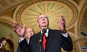 Senate minority leader Mitch McConnell