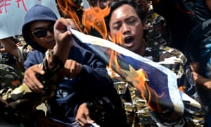Jakarta protest phone tapping