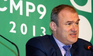 UK Energy and Climate Change Secretary  Ed Davey press conference at COP19 in Warsaw,