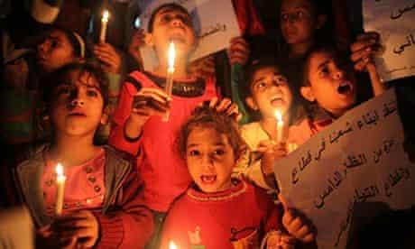 Gaza power protest