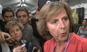 Connie Hedegaard on the final day of climate talks at Warsaw