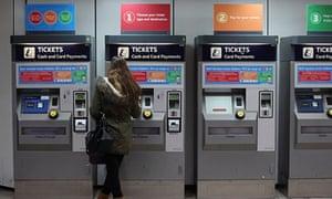 station tickets machines