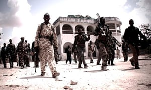 Members of a western-backed Somali militia in Mogadishu in a still from Dirty Wars