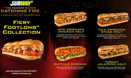 Subway Catching Fire ad