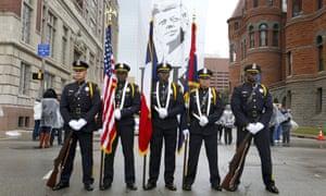A Dallas police honor guard.