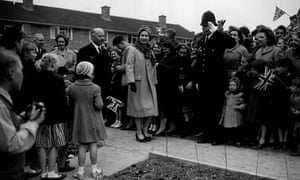 the Queen in new town Stevenage 1959