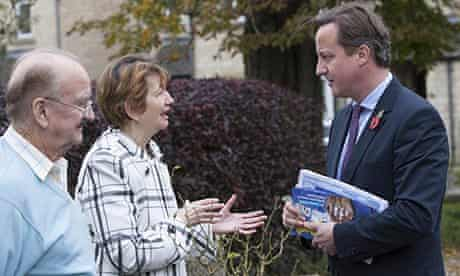 David Cameron canvassing in Witney