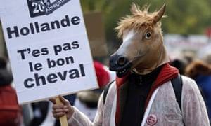 Paris equestrial protest