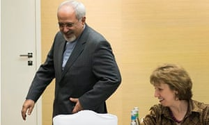 Mohammad Javad Zarif and Lady Ashton, Geneva 9/11/13
