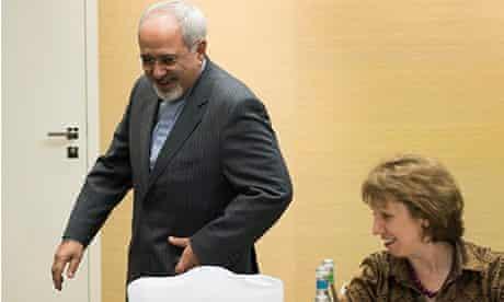 Mohammad Javad Zarif and Lady Ashton, Geneva 9/11/13