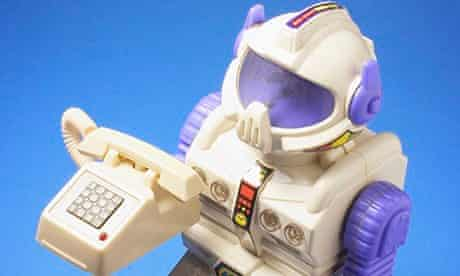 Toy Robot with Miniature Phone