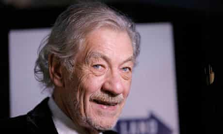 Ian McKellen at Waiting for Godot and No Man's Land opening