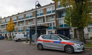 Police car in Brixton