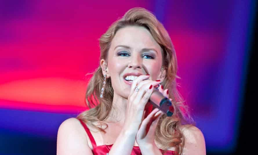Kylie Minogue performs on stage during BBC Proms In The Park in London, 2012.