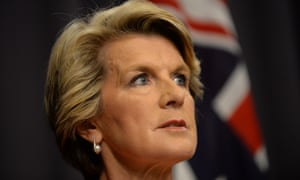 Foreign Minister Julie Bishop  in Canberra.